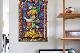 Stained Glass Window Decals Wall Decals Open A Window To The Legend Of Zelda The Wind Waker