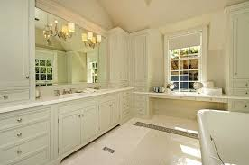 Off White Bathroom Cabinets Cottage Bathroom Giannetti Home - Floor to ceiling cabinets for bathroom