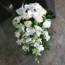 wedding flowers ottawa white cascading wedding bouquet with phalaenopsis w flowers ottawa