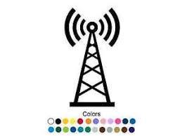 radio tower amateur radio tower vinyl decal radio tower sticker ham radio bumper