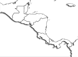 america outline map printable central america printable maps