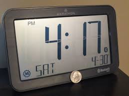 Digital Atomic Desk Clock Marathon Clock System App At Home With Tech