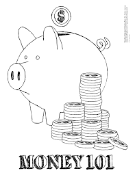 coloring pages of money 1353