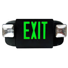 exit emergency light combo deluxe architecture series emergency light combo square lights