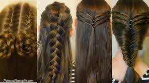 hairstyles for girl video 4 easy hairstyles for school cute and heatless part 3 hairstyles