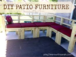 Build Wooden Patio Furniture by Diy Furniture Build Your Own Outdoor Seating Life Love And Thyme