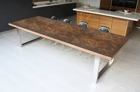 Copper Table  Modern Kitchen Tables In Copper  MacWood Wood - Copper kitchen table