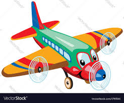 cartoon airplane royalty free vector image vectorstock