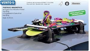 porta sci per auto gev a8940 portasci magnetico antifurto vento 5 set di 2