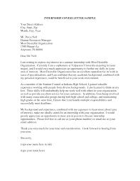 crafty sample cover letter for internship 3 cv resume ideas
