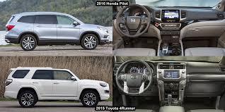 honda pilot size comparison benim otomobilim 2015 toyota 4runner vs 2016 honda pilot visual