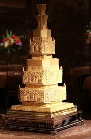 gold art nouveau wedding cake deco weddings