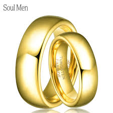 wedding band recommendations online shop soul men 1 pair gold color tungsten wedding band ring