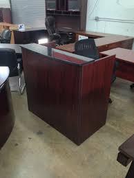 Granite Reception Desk Mini Reception Desk With Granite Counter 42 W X 24 D X 43 H