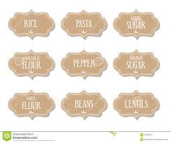 Kitchen Canister Labels Food Labels Stickers Stock Vector Image 52469071
