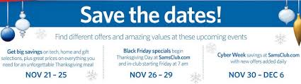 black friday sams club sam u0027s club holiday savings event ad posted u2014 black friday 2015