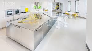 stainless steel island for kitchen polished stainless steel kitchen in this house with large