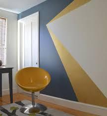 peinture mur de chambre la peinture géométrique pour sublimer vos murs la peinture mur et