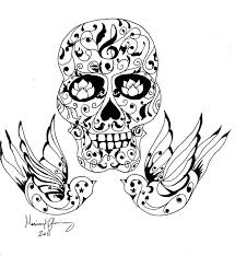 tattoo coloring pages coloring pages skull skull tattoo tattoo