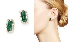 emerald earrings emerald earrings bloomingdale s