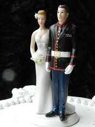 military wedding cake topper ginger babies by gingerbabies 65 00