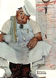 pooped from thanksgiving dinner norman rockwell give