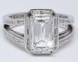 baguette ring best 25 baguette diamond rings ideas on baguette