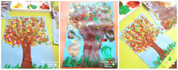 finger print autumn trees u2013 fall art activities for kids our