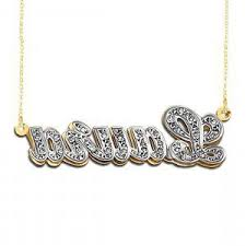 3d Nameplate Necklace Kt Yellow Gold Triple Name Plate Bracelet Ksvhs Jewellery