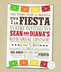 Invitation Card For Dinner Fiesta Rehearsal Dinner Invitations Kawaiitheo Com