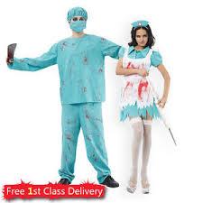 Surgeon Halloween Costume Surgeon Nurse Couples Costume Halloween Zombie Blood Doctor
