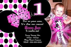 Mickey Mouse Invitation Cards Free Minnie Mouse Invitations 1st Birthday Party Template Drevio