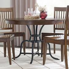Kincaid Dining Room The Nook 44 Inch Round Metal Dining Table Maple Kincaid