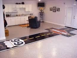 Laminate Flooring For Garage Garage Flooring Ideas For Kitchen With Oak Cabinets Garage