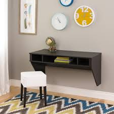 Fold Away Desk Wall Mounted Furniture Classy And Stylish Floating Desk With Storage