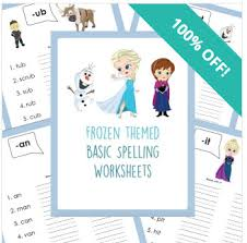 frozen themed printable worksheets for abc u0027s math and spelling