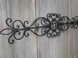 wrought iron inspired wall hanging decor with monogram initial