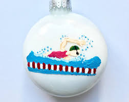 swimming ornament etsy