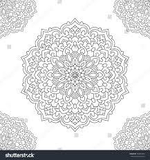 eastern ethnic mandala round symmetrical ornament stock vector