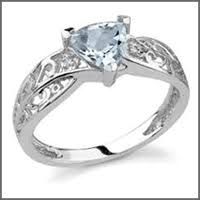 Used Wedding Rings by Pre Owned Used Aquamarine Engagement Rings