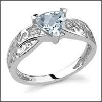 used wedding rings pre owned used aquamarine engagement rings