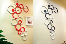 dimensional wall 5pcs set wooden circle shape 3d three dimensional wall stickers