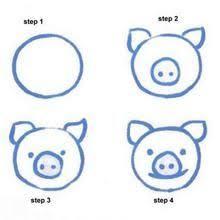 draw pig easy animals draws