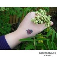 Ladybug And Flower Tattoos - ladybug tattoo designs ideas meanings images