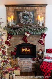 christmas christmas fireplace cabin best rustic ideas on