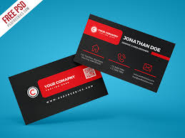 Trading Card Designer Black Corporate Business Card Psd Template Download Download Psd