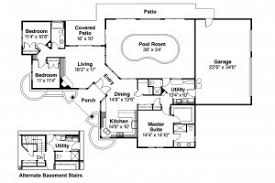 House Plans With A Pool Floor Plan Ranch House Plans Williston 30 165 Associated Designs