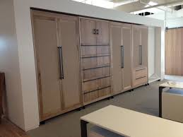 fancy sliding wall room divider with steel frame mixed white