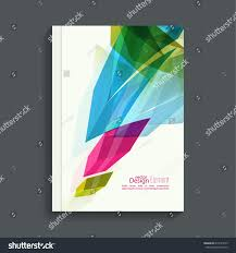 magazine cover colored crystals trellis structure stock vector