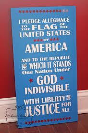 I Pledge Of Allegiance To The Flag Patriotic Subway Art Pledge Of Allegiance Diy Home Decor And